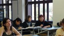 Němečtí studenti v Litomyšli - na hodině VV