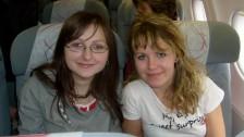 Setkání ve Španělsku (2008-09) Martina a Monika v letadle