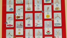 Ukázka prstové abecedy